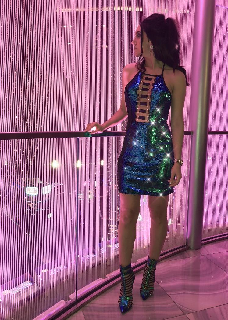 Blue-Green Sequin Dress - www.kateyblaire.com